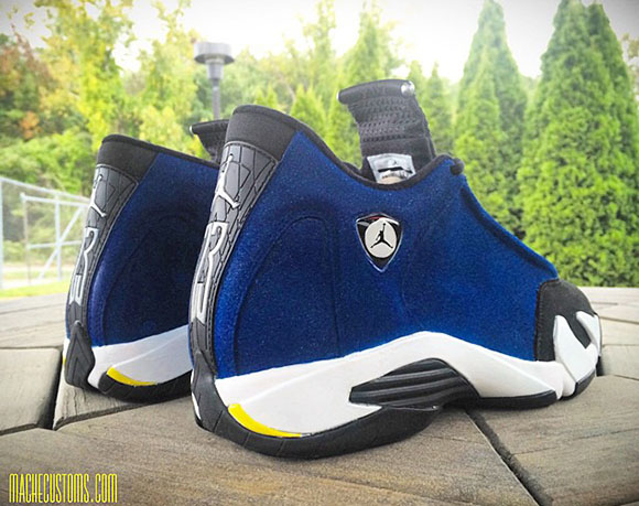 fef22d3f215035 Laney  Air Jordan 14 Custom by Mache