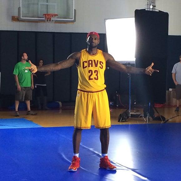 829a9c032c5 LeBron James Shows us the Cavs Nike LeBron 12