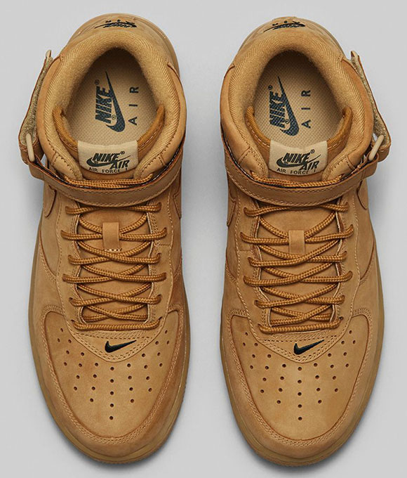 Nike Air Force 1 Mid Flax (Wheat)