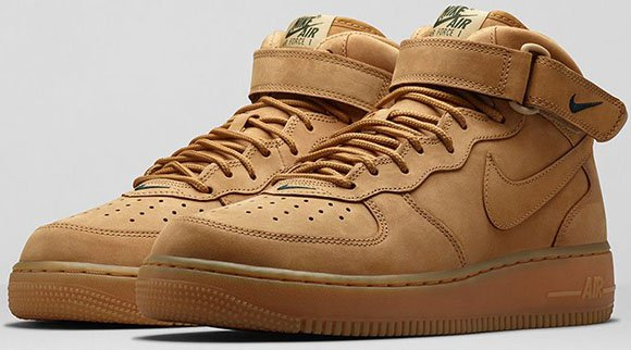 on sale 7e26f 7441e Nike Air Force 1 Mid Flax (Wheat)