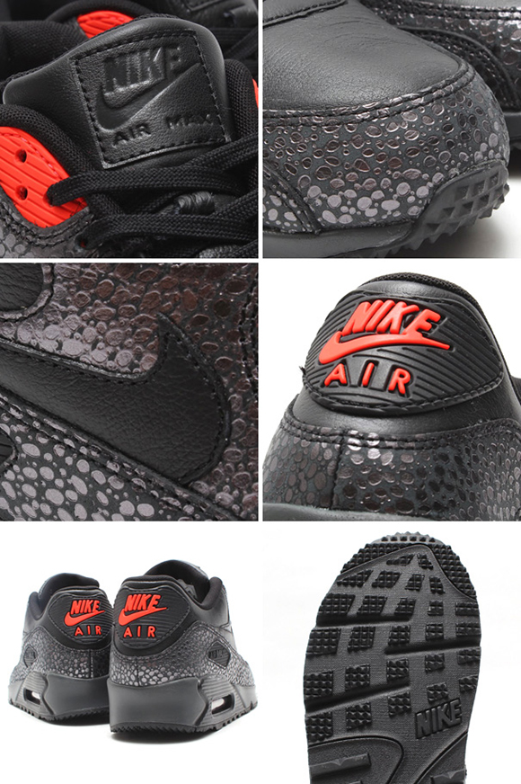 nike air max 90 deluxe black/black-infrared-anthrct