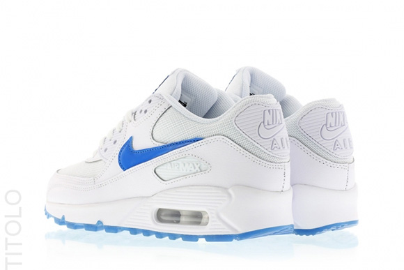 Nike Air Max 90 GS Glow in the Dark White/Photo Blue