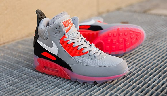Nike Air Max 90 Ice Sneakerboot Wolf Grey/Infrared