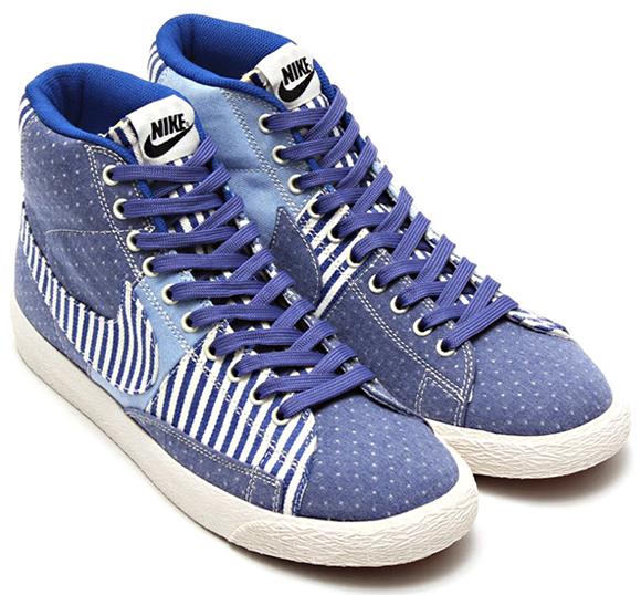 Nike Blazer Mid Blue Legend/Sail with Polka Dots Denim