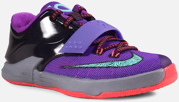 buy online 6987d c9e64 ... cheapest nike kd 7 gs purple bleached turquoise hyper grape magnet  76136 439ab