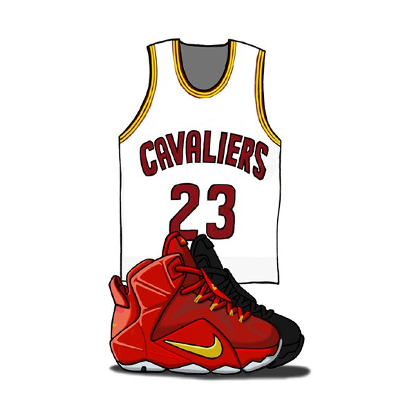 Lebron 10 Drawings Nike Lebron 12 Illustrated