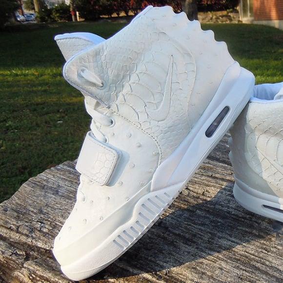 Shane Victorino Nike Air Yeezy 2 White Ostrich Custom