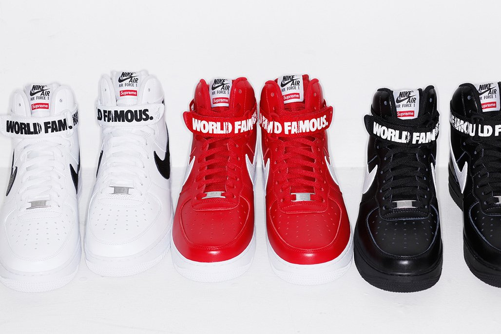 sports shoes 9de86 f8b2f Supreme x Nike Air Force 1 High 'World Famous' : Did You Cop ...