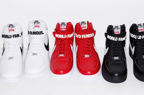 Supreme x Nike Air Force 1 High Release Info