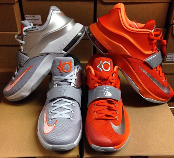 watch 2110f 67ce1 2nd Pair of Nike KD 7 'Texas Longhorns' | SneakerFiles