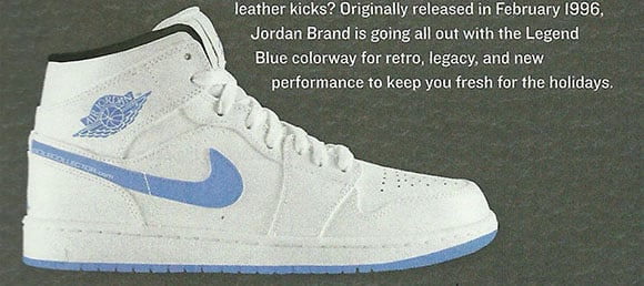 bc9c19989bc3 Air Jordan 1 Mid Legend Blue is a Finish Line Exclusive Release ...