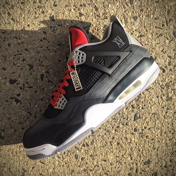 Air Jordan 4 Custom for Eminem Shady XV Album Mache