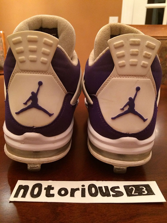 Air Jordan 4 Purple Sunset High School Cleat PE