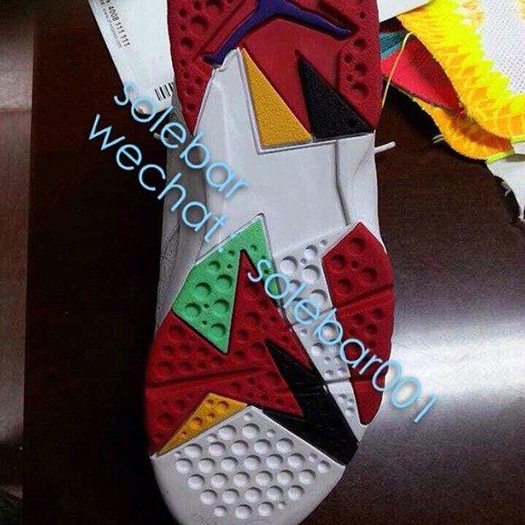 Air Jordan 7 Hare Crocodile Texture Sample for 2015?