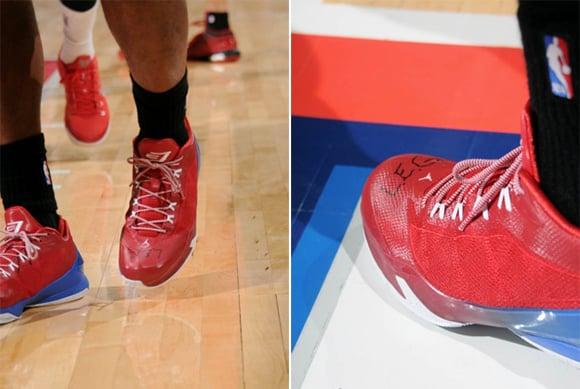 Chris Paul Honors Fans Mom Writing LEG on His Sneakers