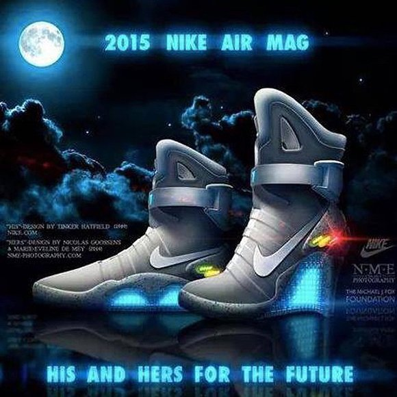 is this real life his hers nike air mag for 2015 sneakerfiles. Black Bedroom Furniture Sets. Home Design Ideas
