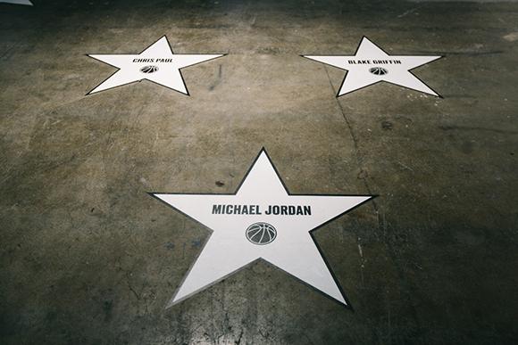 Inside the Jordan Hangar in L.A.