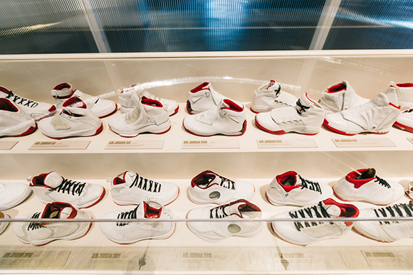 Inside the Jordan Hangar in L.A.