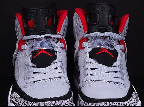 Jordan Spizike GS Wolf Grey Gym Red