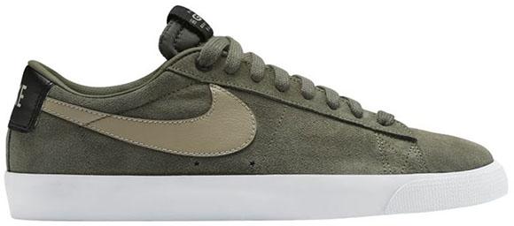 Nike SB Blazer Low GT Cargo Khaki Saturday Release