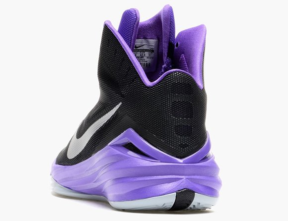 Nike Hyperdunk 2014 Black Hyper Grape Metallic Silver