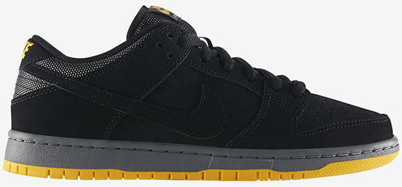Nike SB Dunk Low Black/University Gold - Now Available