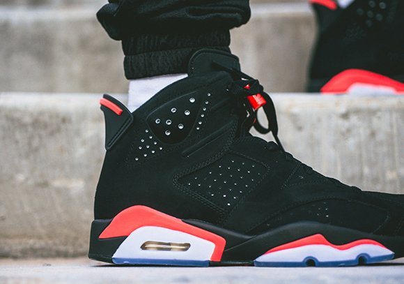 On Feet: Air Jordan 6 'Black/Infrared' Black Friday ...