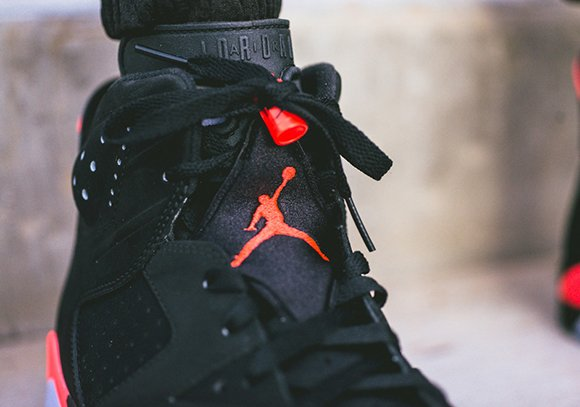 On Feet: Air Jordan 6 Black/Infrared Black Friday Release