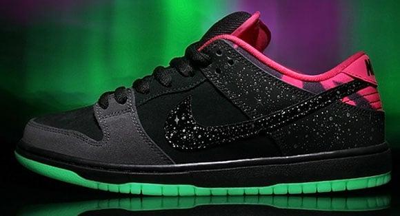 Premier x Nike SB Dunk Low Northern Lights Saturday Release