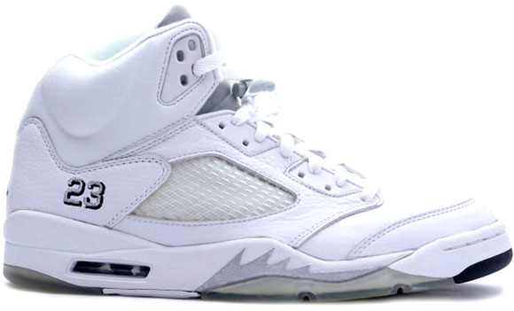 Release Date: Air Jordan 5 White/Metallic Silver (2015)