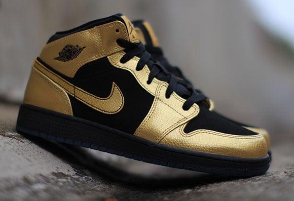 air jordan 1 mid gold