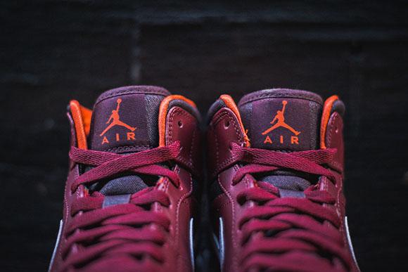 Air Jordan 1 Mid Team Red Electric Orange