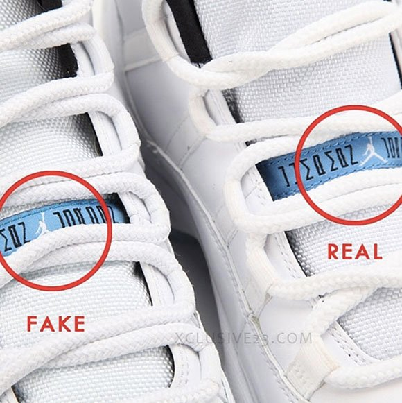Next To Real Retro S Fake Retro S: Air Jordan 11 Legend Blue Real Fake Authentic