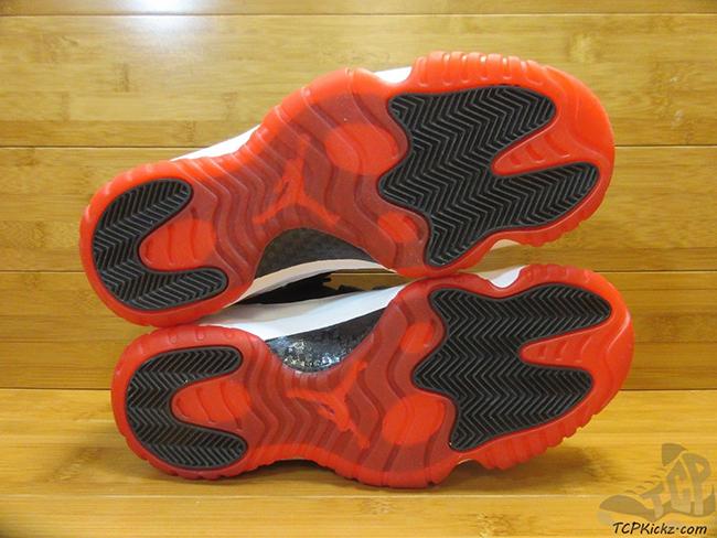 Air Jordan 11 Low White Black Red Sample