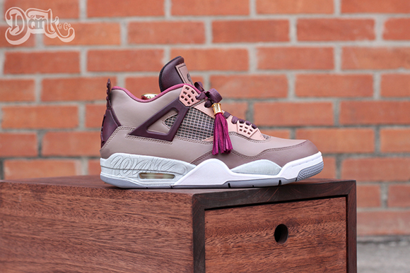 Air Jordan 4 Louis Vuitton Don Custom by Dank for Wale
