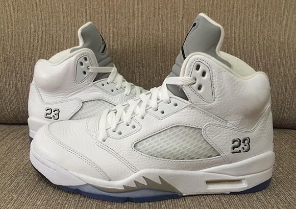 2fad8161a160d0 Air Jordan 5 White   Metallic Silver 2015 - Another Look
