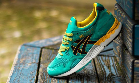 asics gel lyte v green yellow