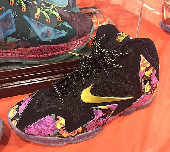 Bryce James Nike LeBron 11 Floral For his Parents Wedding