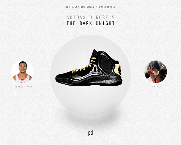 Derrick Rose: adidas D Rose 5 Boost x The Dark Knight (Batman)
