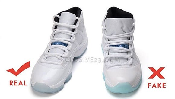 how to spot fake air jordan 11 legend blue
