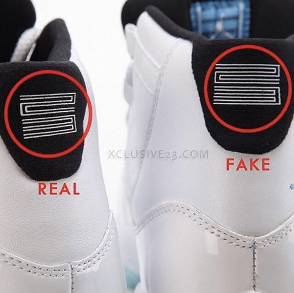 Real Vs Fake Retro 12: Air Jordan 11 Legend Blue Real Fake Authentic