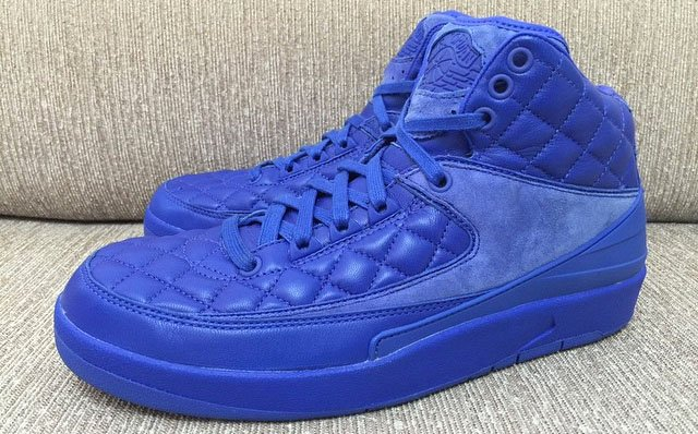 just don x air jordan 2 blue quilted leather 2015
