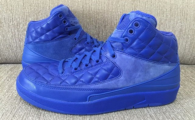 finest selection 06174 8df50 Just Don x Air Jordan 2 Blue Quilted Leather 2015 - Detailed ...