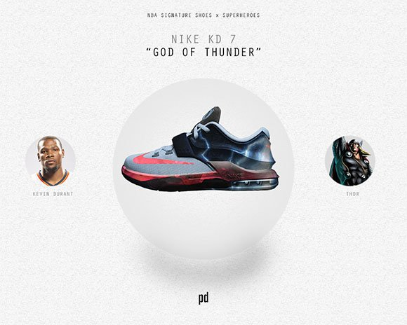 Kevin Durant: Nike KD 7 x God of Thunder