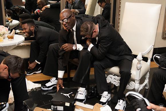 Michael Jordan Gives Brother-In-Law Carlos Preito Wedding Custom Air Jordan 11 Concord Lows