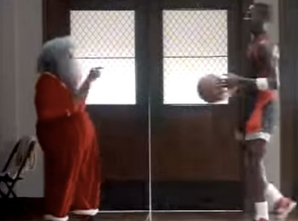 Michael Jordan Dunks on Santa Claus 1985 Commercial