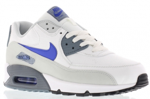 f74dd5313ec90 Nike Air Max 90 Summit White / Lyon Blue - Grey Mist | SneakerFiles