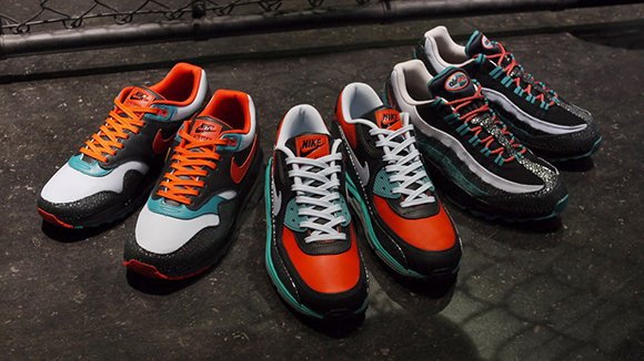 Nike Air Max 95, Lunar 90 and Lunar 1 Rhinoceros Beetle Pack