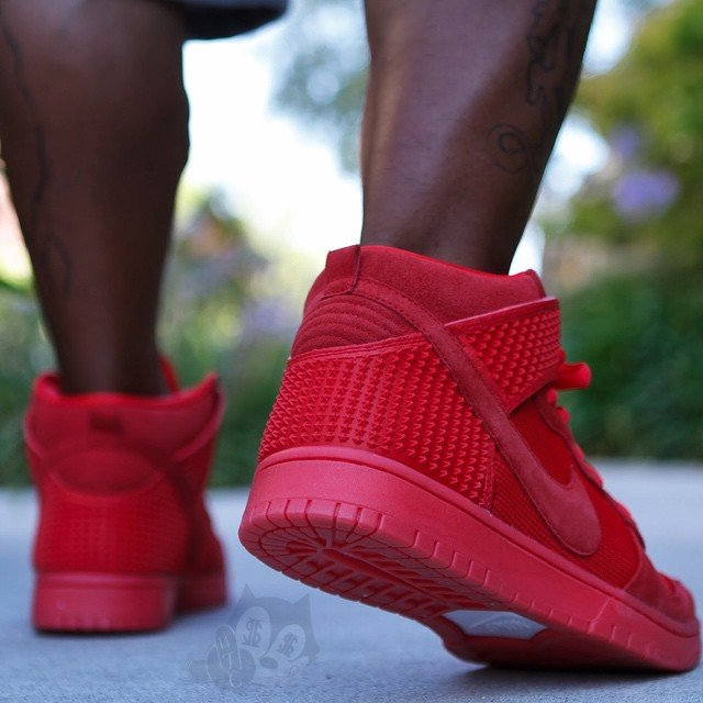 new styles 2a611 53f7c Nike Dunk High Red October On Feet