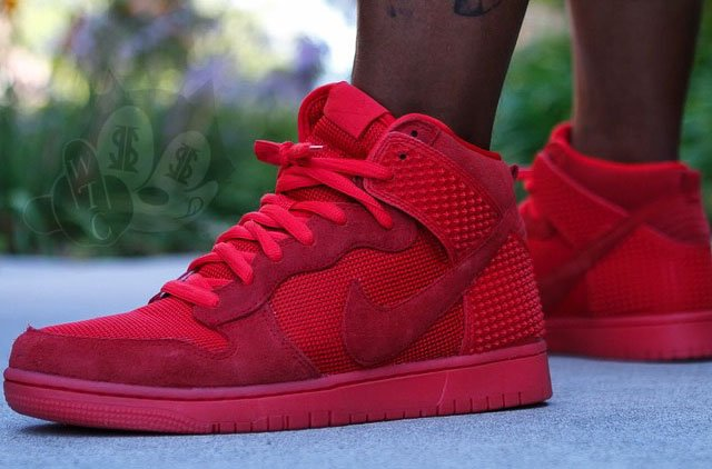 nike dunk yeezy red october